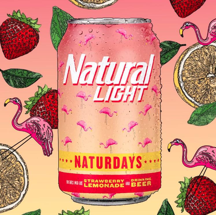 Anheuser Busch Release Natural Light Naturdays Strawberry Lemonade