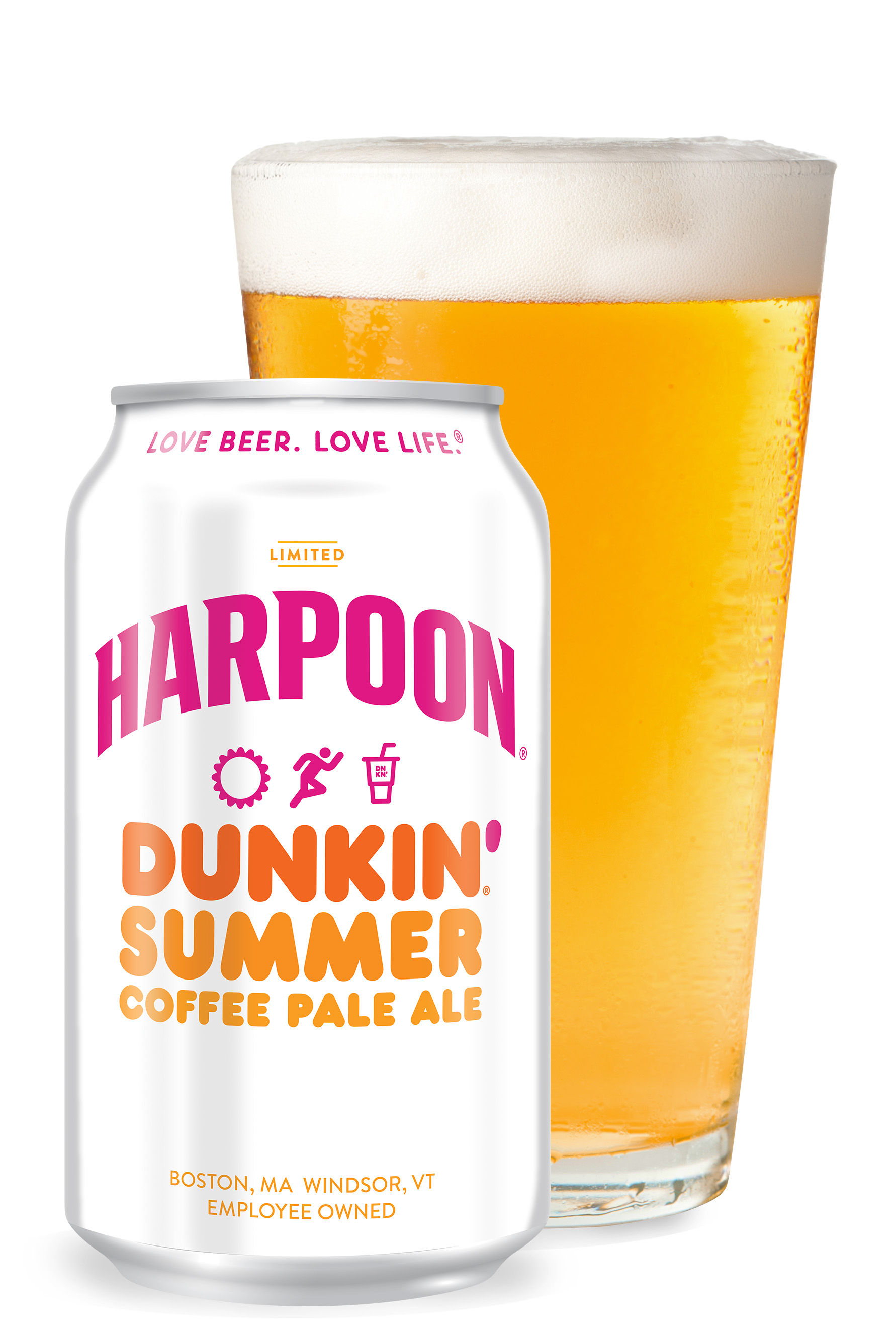 c3aede14b747 Harpoon Dunkin  Summer Coffee Pale Ale marks the second craft beer created  in partnership between these two iconic American beverage brands.