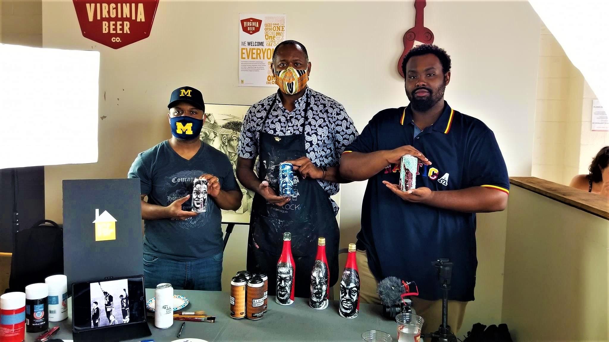 Williamsburg's Virginia Beer Co. & Media Mentors Partner For Black Is Beautiful Art Session